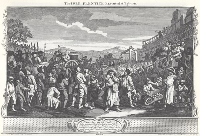 The Idle Prentice - Executed at Tyburn. William Hogarth.