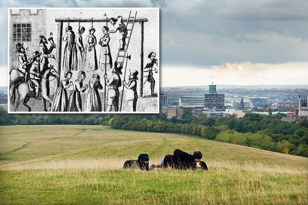 The Town Moor today and its brutal past, including many witch hangings in the 1600's. Picture courtesy of www.chroniclelive.co.uk