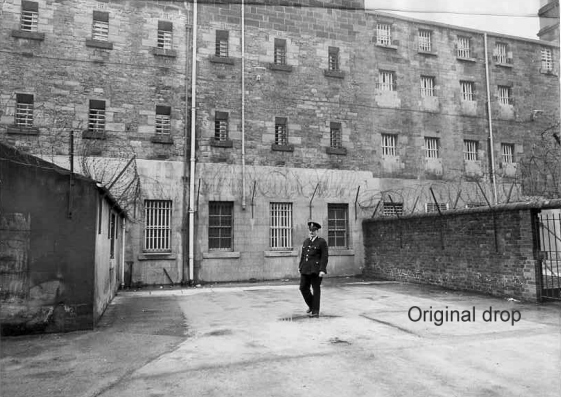 The site of the gallows at Durham Prison, after execution was moved inside the prison walls in 1868 courtesy of capitalpunishmentuk.org