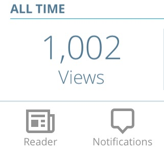 Hitting the 1,000 views mark on the blog. The three readers taking it over the mark were from Indonesia and Israel. If you know who you are, i'll give you a prize and i know no-one from either country.