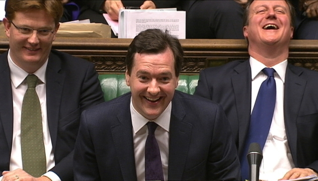 Britain's Chancellor of the Exchequer George Osborne delivers his autumn budget in parliament in London
