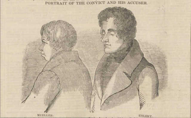 Ehlert and Mueller trial sketch taken from the Newcastle Journal 17th August 1839 p.3