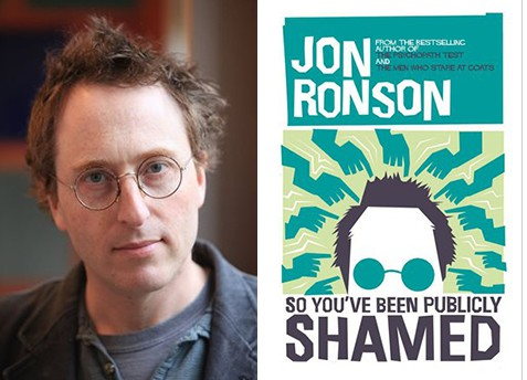 Author Jon Ronson and his latest book, So You've Been Publicly Shamed