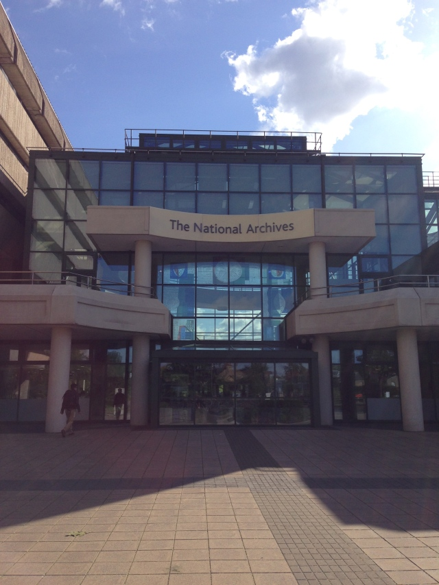 The sunny National Archives at Kew