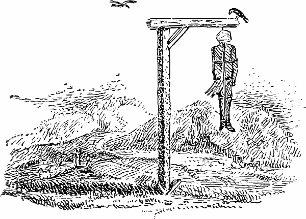 Gibbet from Thomas Bewick's Vignettes, courtesy of www.gutenberg.org