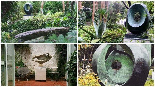 Barbara Hepworth sculpture garden, St Ives, Cornwall.