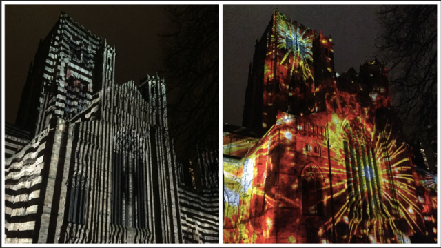 Durham Cathedral Lumiere Festival 2015