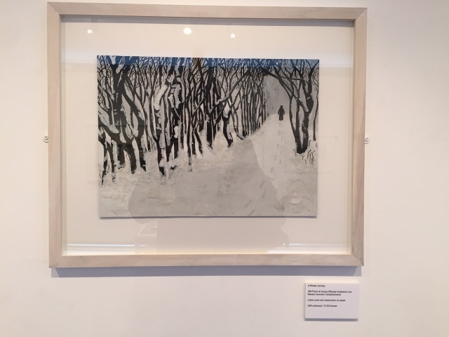 'A Winter Walk' - Loud! exhbition, Gateshead Central Library, courtesy of the Koestler exhibition for the North East