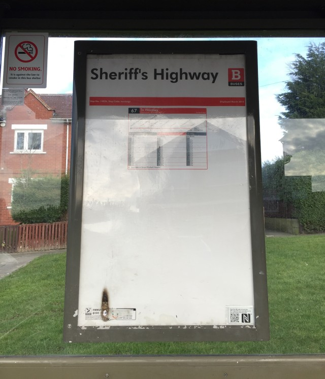 Sheriff's Highway. The Modern Judge would probably be as well minded to use the Post-Chaise than risk the vicissitudes of the Gateshead transport system.