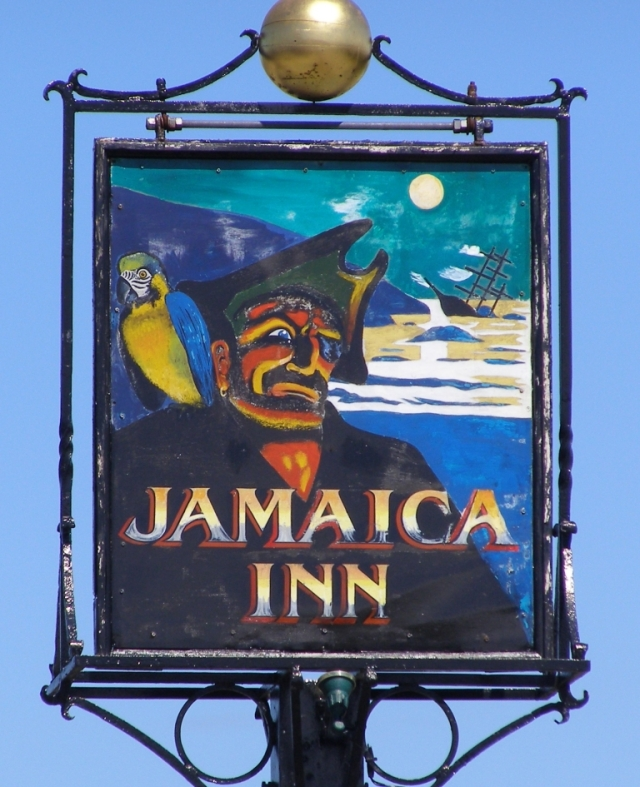 Jamaica Inn Sign Courtesy of Wikimedia Commons.
